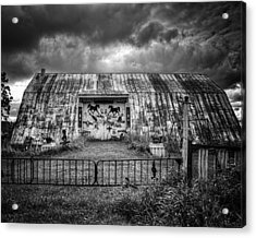 Storm Coming In On The Farm Acrylic Print by Thomas Young