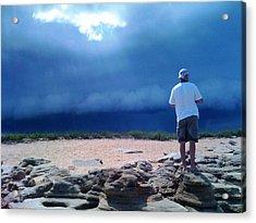 Storm Gazer Acrylic Print by Julie Wilcox