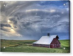 Storm On Jenkins Rd Acrylic Print by Latah Trail Foundation