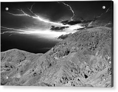 Storm On The Mountain Acrylic Print by Athala Carole Bruckner
