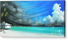 Weather Acrylic Print featuring the painting Storm On The Move by Susi Galloway