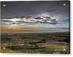 Storm Over Emmett Valley Acrylic Print by Robert Bales