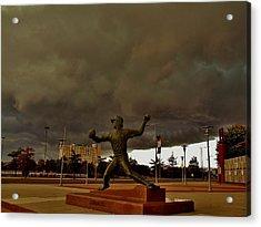 Storm Over Lefty Acrylic Print by Ed Sweeney