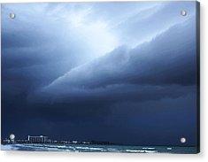 Storm Over Siesta Key - Beach Art By Sharon Cummings Acrylic Print by Sharon Cummings
