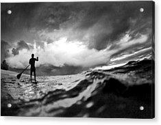 Storm Paddler Acrylic Print by Sean Davey