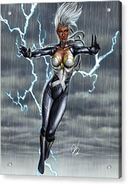 Storm Acrylic Print by Pete Tapang