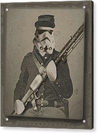 Storm Trooper Star Wars Antique Photo Acrylic Print by Tony Rubino