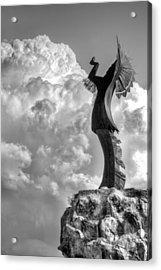 Storm Watcher Bw Acrylic Print by JC Findley