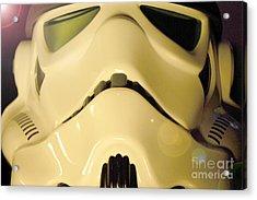 Stormtrooper Helmet 105 Acrylic Print by Micah May