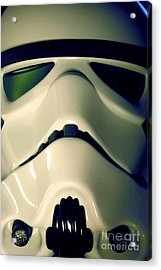 Stormtrooper Helmet 106 Acrylic Print by Micah May