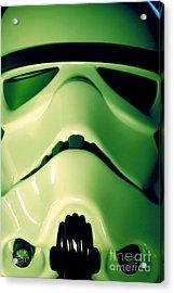 Stormtrooper Helmet 109 Acrylic Print by Micah May