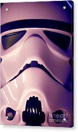 Stormtrooper Helmet 110 Acrylic Print by Micah May