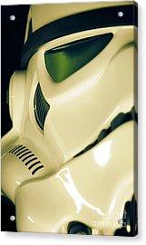 Stormtrooper Helmet 111 Acrylic Print by Micah May