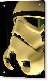 Stormtrooper Helmet 112 Acrylic Print by Micah May