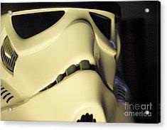 Stormtrooper Helmet 113 Acrylic Print by Micah May