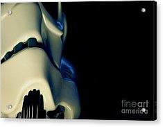 Stormtrooper Helmet 114 Acrylic Print by Micah May