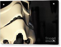 Stormtrooper Helmet 115 Acrylic Print by Micah May