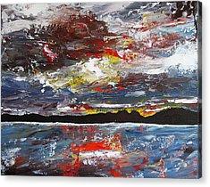 Stormy Bay Acrylic Print by Donna Mann