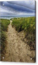 Stormy Beach Acrylic Print by Sebastian Musial