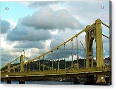 Stormy Bridge Acrylic Print by Frank Romeo