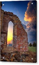 Stormy Church Acrylic Print by Thomas Zimmerman