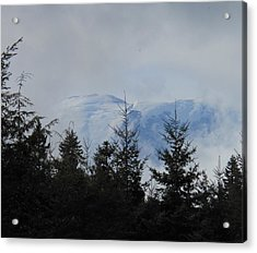 Stormy Day At Mt. Rainier Acrylic Print by Kay Gilley