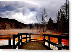 Stormy Days Acrylic Print by Birches Photography