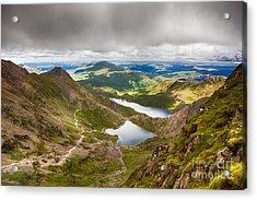 Stormy Skies Over Snowdonia Acrylic Print by Jane Rix