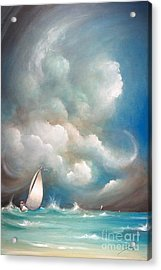 Weather Acrylic Print featuring the painting Stormy Sunday by Susi Galloway
