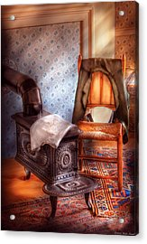 Stove - The Stove And The Chair  Acrylic Print by Mike Savad
