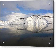 Strange Faces In Water Acrylic Print by Faouzi Taleb