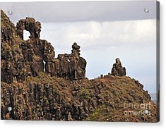 Strange Rock Formation Acrylic Print by Sami Sarkis