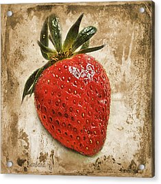 Strawberry  Acrylic Print by Barbara Orenya