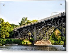 Strawberry Mansion Bridge And The Schuylkill River Acrylic Print by Bill Cannon