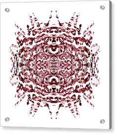 Strawberry Red Abstract Acrylic Print by Frank Tschakert