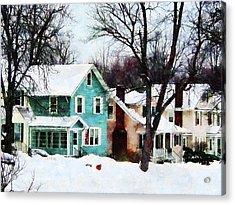 Street After Snow Acrylic Print by Susan Savad