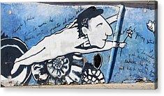 Street Art Santiago Chile Acrylic Print by Kurt Van Wagner