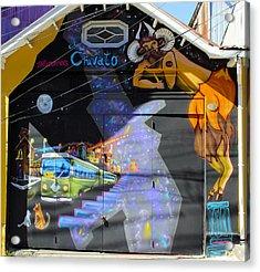Street Art Valparaiso Chile 5 Acrylic Print by Kurt Van Wagner