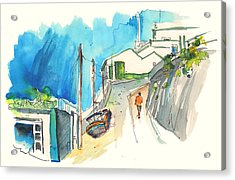 Street In Ericeira In Portugal Acrylic Print by Miki De Goodaboom