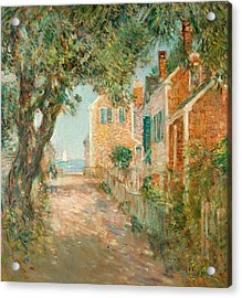 Street In Provincetown Acrylic Print by  Childe Hassam