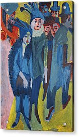 Street Scene Acrylic Print by Ernst Ludwig Kirchner