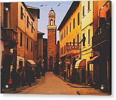 Street Scene Acrylic Print by SophiaArt Gallery