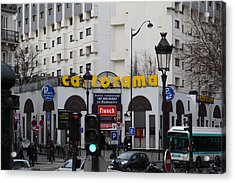 Street Scenes - Paris France - 011343 Acrylic Print by DC Photographer