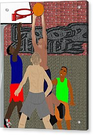 Streetball Shirts And Skins Hoopz 4 Life Acrylic Print by Pharris Art