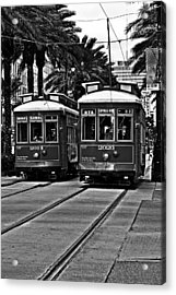 Streetcars New Orleans Acrylic Print by Christine Till