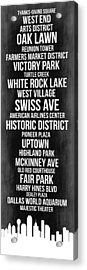 Streets Of Dallas 2 Acrylic Print by Naxart Studio