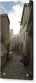 Streets Of Leh Acrylic Print by Aaron S Bedell