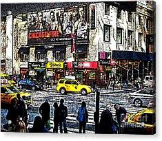 Streets Of Manhattan 20 Acrylic Print by Mario Perez
