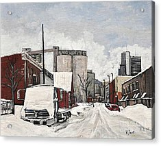 Streets Of Montreal Pointe St. Charles Acrylic Print by Reb Frost