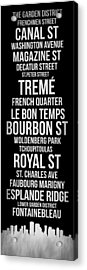 Streets Of New Orleans 2 Acrylic Print by Naxart Studio